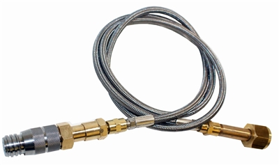 CGA-320 CO2 External Tank  adapter S/S Hose System Fits Most Soda Maker Beverage Machines/018227554626
