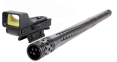 Accurate barrel 16 and Tactical red dot sight kit for Tippmann Tmc.