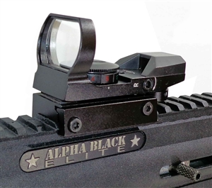 Reflex Red And Green Sight With 4 Reticles For Alpha Black Elite