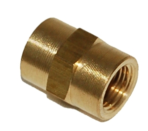 "Trinity 1/8"" fpt X 1/8"" fpt brass female coupling FPC220"