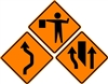 "48"" x 48"" Standard Temporary Construction Sign Rental"