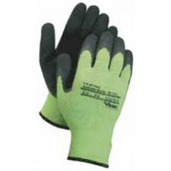 Green Hi-Viz Thermo Mega Grip Gloves