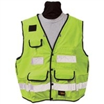 8068 Safety Utility Vest - Flo Yellow