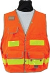 8068 Safety Utility Vest - Flo Orange