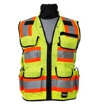 8265 Safety Utility Vest - Flo Yellow