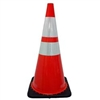 "28"" Traffic Cone w/ 2ea 4in Reflective Tape"