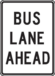 Bus lane ahead