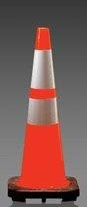 "JBC 28"" Traffic Cone 4"" reflective collar (slim)"