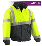 High Visibility Jacket Waterproof Hooded Bomber