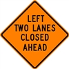 Left Two Lanes Closed
