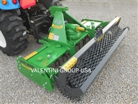 "TG1400 55"" Power Harrow & Mesh Roller: 30-100HP: Quick Hitch Compatible, Leveling Bar, 6 Rotors-12 Blades!"