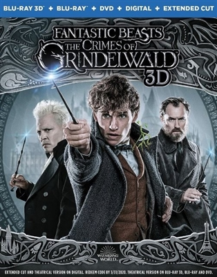 Fantastic Beasts: The Crimes of Grindelwald 3D Blu-ray (Rental)