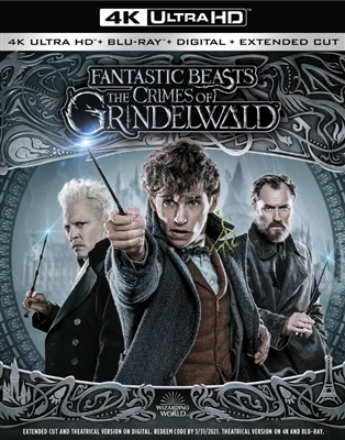 (Releases 2019/03/12) Fantastic Beasts: The Crimes of Grindelwald 4K UHD Blu-ray (Rental)