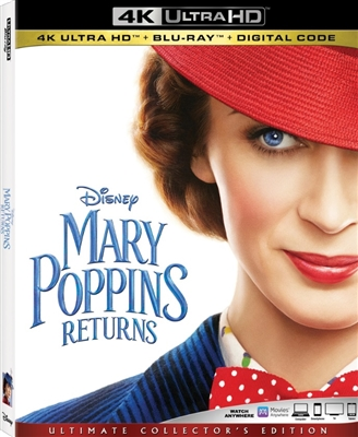 Mary Poppins Returns 4K UHD 02/19 Blu-ray (Rental)
