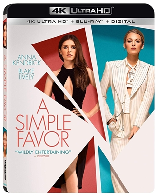 Simple Favor 4K UHD 11/18 Blu-ray (Rental)