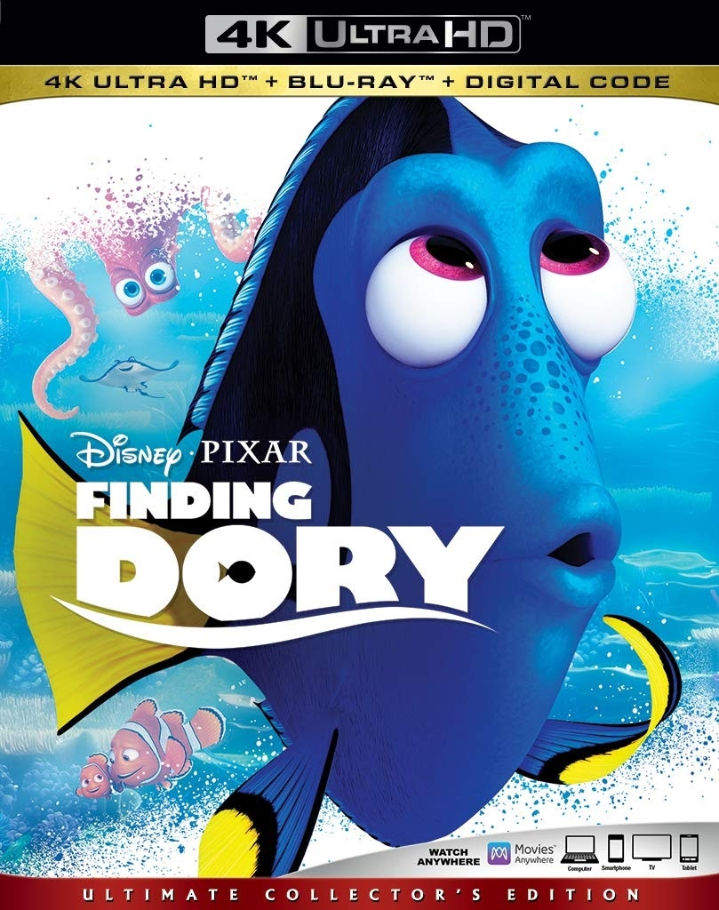 (Pre-order - ships 09/10/19) Finding Dory 4K UHD 07/19 Blu-ray (Rental)