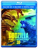 (Pre-order - ships 08/27/19) Godzilla: King of the Monsters 3D 07/19 Blu-ray (Rental)