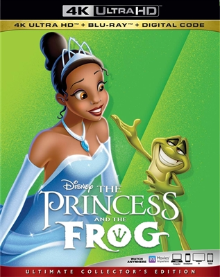 Princess and the Frog 4K 10/19 Blu-ray (Rental)