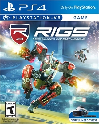 RIGS Mechanized Combat League VR PS4 Blu-ray (Rental)