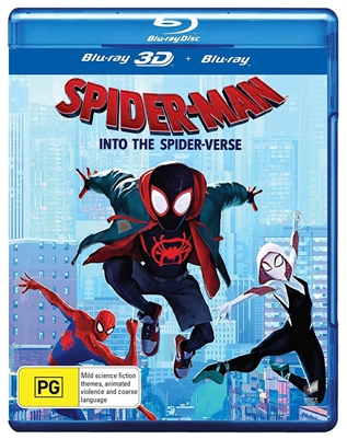Spider-Man: Into the Spider-Verse 3D Blu-ray (Rental)