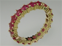 Elegant 9K Yellow Gold Ruby Full Eternity Band