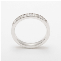 Stunning Platinum Tension Set 0.40ct Diamond Half Eternity Ring