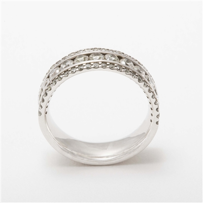 Beautiful Platinum 1.35ct Diamond Half Eternity Wedding Ring