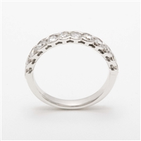 Elegant Platinum 1.00ct Diamond Half Eternity Ring