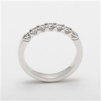 Elegant Platinum 0.50ct Diamond Half Eternity Ring