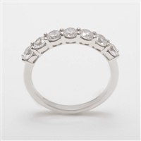 Beautiful Platinum 1.00ct Diamond Half Eternity Ring