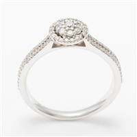Stunning Platinum, 18ct or 14ct White Gold Halo Engagement Ring