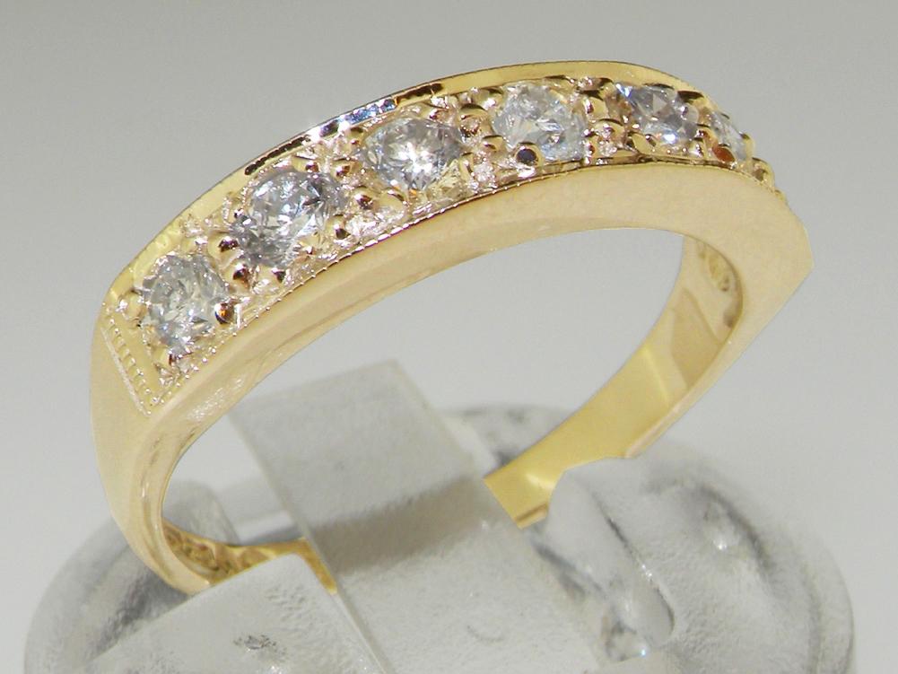bbf7e84c2d301 Classic Design 18K Yellow Gold Diamond Half Eternity Ring View Larger Photo