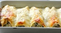 Roasted Chicken, Spinach and Sun dried Tomato Cannelloni