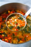 Garbanzo, Quinoa, and Vegetable Soup