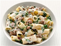 Rigatoni with Swiss Chard and Turkey Sausage