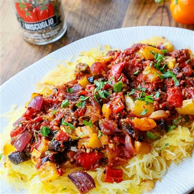 LOW CARB Ratatouille Chicken thighs