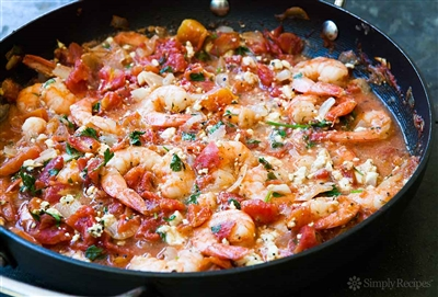 Greek Style Shrimp with Feta and Tomatoes