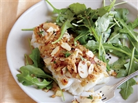 Almond and Herb Crumb Snapper