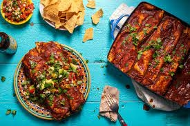 Sweet Potato and Spinach Enchiladas