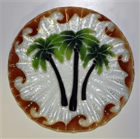 10.75 inch Palm Tree Plate