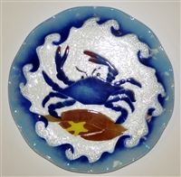 12 inch Blue Claw Crab Plate