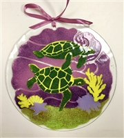 7 inch Sea Turtle Suncatcher