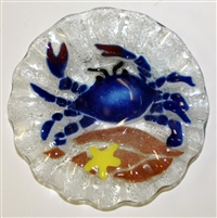 7 inch Bowl Blue Claw Crab