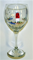 Barnegat Lighthouse Red Wine Glass