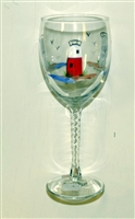 Barnegat Lighthouse White Wine Glass