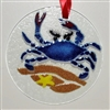 Blue Claw Crab Small Suncatcher