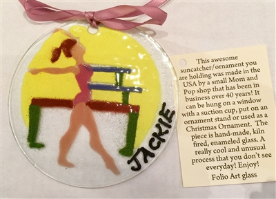 Personalized Gymnastics Suncatcher/Ornament