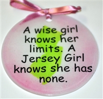 Jersey Girl limits none suncatcher pink