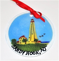 Sandy Hook Light House Suncatcher/Ornament