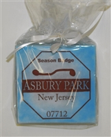 Beach Badge Blue Asbury Park Coasters